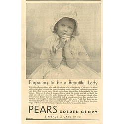 1936 Pears Golden Glory, Sixpence A Cake
