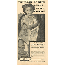 1936 Lord Brooke Another Humanised Trufood Baby