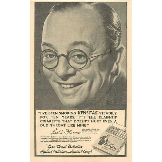 1936 Leslie Hanson, Producer And Manager, Comedian 10 Years Steady