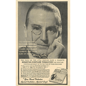 1936 Famous Savoyard Henry Lytton Advises Throat Protection