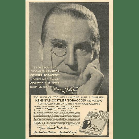 1936 Famous Savoyard Henry Lytton Advises Throat Protection