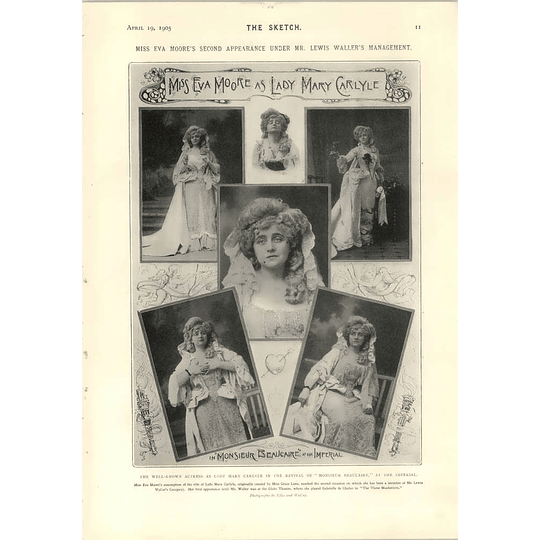 1905 Miss Eva Moore As Lady Mary Carlyle Fishwife's Paris Halles