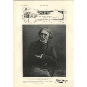1905 Sir Henry Irving Autograph Photograph Hat Designs Albert Guillaume