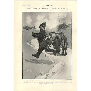 1905 Lawson Wood Cartoon Colonle Can Roll Downhill During Manoeuvres