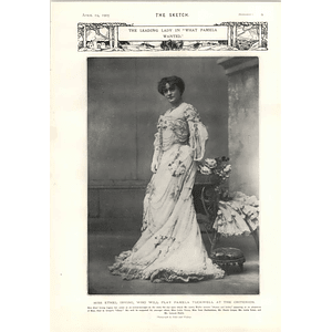 1905 Miss Ethel Irving Leading Lady What Pamela Wanted Maud Fealy Drury Lane