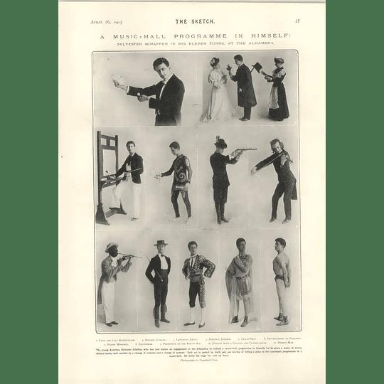 1905 Young Austrian Talent Sylvester Schaeffer 11 Characters Alhambra