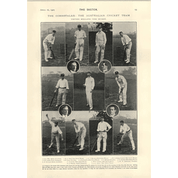 1905 The Cornstalks Australian Cricket Team Gregory Hopkins Armstrong Trumper