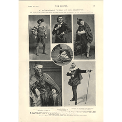 1905 Repertoire Week His Majesty's Theatre Mr Tree Festival Characters