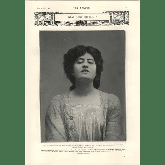1905 Miss Constance Collier Dear Lady Disdain Hamlet Adelphi Charles Rock Herbert Grimwood