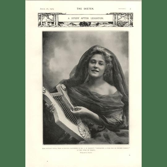 1905 Miss Pauline Chase Jm Barrie Pantaloon Playing Columbine