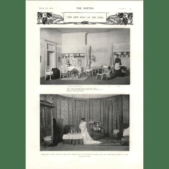 1905 Her Own Way Lyric Theatre Maxine Elliott As Georgiana Carley