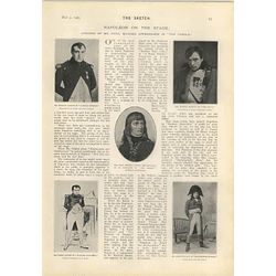 1905 Napoleon On The Stage Cyril Maude Martin Harvey Murray Carson Joseph Jefferson
