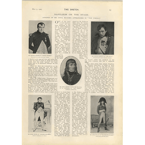 1905 Napoleon On The Stage Cyril Maude Martin Harvey Murray Carson Joseph Jefferson