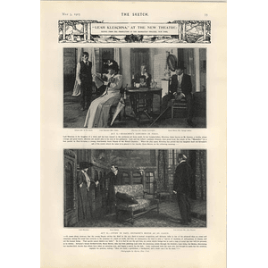 1905 Leah Kleschka Manhattan Theatre New York Mrs Fiske Scenes From Two Acts