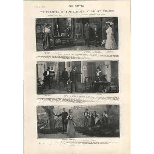 1905 Leah Kleschka Manhattan Theatre New York Scenes Rolling Roadway Cleveland Usa