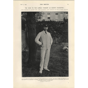 1905 Lord Dalmeny New Capt Surrey Cricket Countess Cawdor Lady Doreen Long