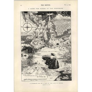 1905 Sh Sime Landscape Of A Nightmare Drawing Ministers Wives France