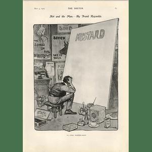 1905 Frank Reynolds Caricature Of The Poster Artist Gm Payne Editor Of The World's Advisor