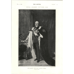 1905 Harold Speed Painting For Belfast His Majesty The King Blair Leighton William Wollen