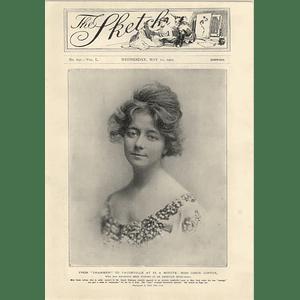 1905 Miss Cissie Loftus Playing Vaudeville £4 Per Minute