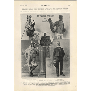 1905 Nine Years Chief Comedian Mr Huntley Wright Daly's Theatre
