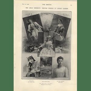 1905 Covent Garden Singers Suzanne Adams Kirkby Lunn Edna Thornton