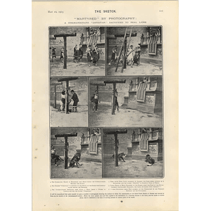 1905 Cinematograph Christian Sacrificed To Real Lions Bohemian Paris From Rue Gabrielle