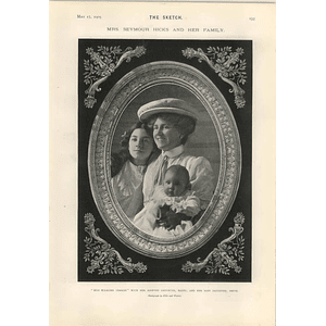 1905 Miss Ellaline Terriss With Her Adopted Daughter Mabel And Baby Daughter Betty