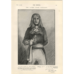 1905 Mr Cyril Maude In The Creole One Act Play Stage Napoleon