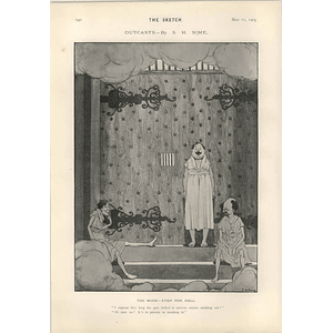 1905 Sh Sime Cartoon Outcasts From Hell My Lady Nicotine Alhambra