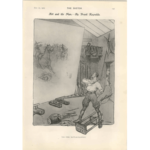 1905 Frank Reynolds Caricature Of The Battle Painter