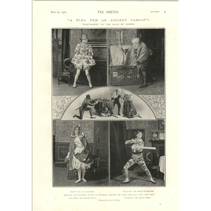 1905 A W Baskcomb Clown Harlequin Willie Warde Alice Sit By The Fire
