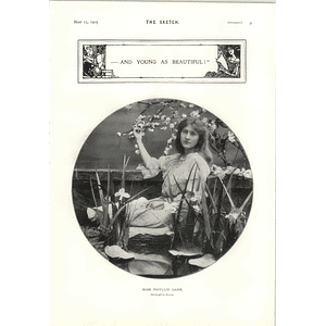 1905 Miss Phyllis Dare Reclining Pose Romeo And Juliet At The Imperial