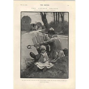 1905 John Hassall Cartoon De Willow Family Touring The Southern Counties