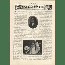 1905 Miss Gordon Walker Harpist M Herold Tenor Topsy Sinden Winifred Hare
