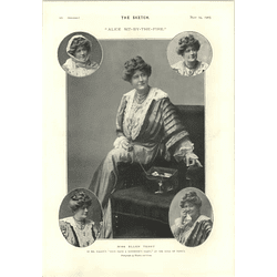 1905 Miss Ellen Terry Miss Alice Crawford As Josephine's Cyril Maude