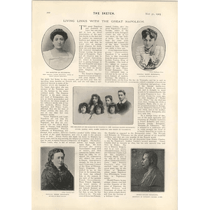 1905 Living Links With The Great Napoleon Bonapartes And Villeneuves Edmund Talbot