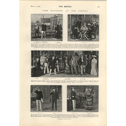 1905 Mr Edmund Maurice Cyril Maude As Shakespeare The Dictator At The Comedy