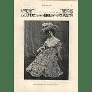 1905 Miss Gertie Millar Playing Rosalie Spring Chicken Mr Keble Howard Love In June