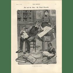 1905 Frank Reynolds Caricature Of The Joke Maker