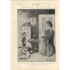 1905 Starr Wood Cartoon Baby Is A Haddock Waiting To Be Cooked