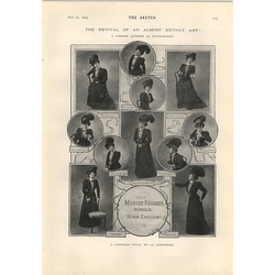 1905 Mlle Marthe Regnier Mimics Minor Emotions French Actress As Pantomimist