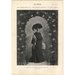 1905 Miss Olive May Playing In Spring Chicken Fashionable Intelligence Drawn By John Hassall
