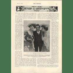 1905 Miss Pauline Donalda Canadian Singer Mr Henry A Lytton Signor Caruso Caricature Sketch
