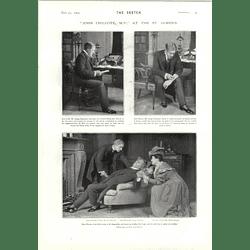 1905 Scenes From John Chilcote Mp St James's Theatre Yvette Guilbert