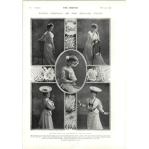 1905 Miss Billy Burke Young America On The English Stage Yvette Guilbert