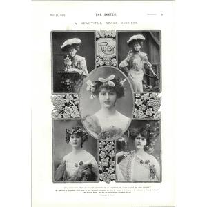 1905 Miss Ruby Ray Beautiful Stage Duchess Derby Favourite Cicero