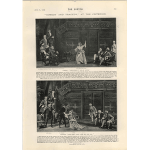 1905 Comedy And Tragedy At The Criterion Scenes