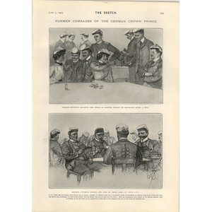 1905 Former Comrades Of The German Crown Prince Student Corps