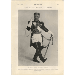 1905 Mr Willie Edouin As General Des Ifs Great Thoughts Of A Policeman